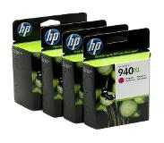 HP 940XL originele high-capacity zwarte/cyaan/magenta/gele inktcartridges, 4-pack