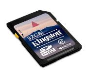 Kingston Technology 32GB SDHC Card 32GB SDHC Flash Luokan 4 flash-muisti
