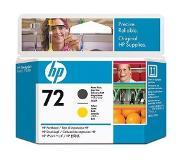 HP Nr. 72 matzwarte en gele printkop