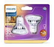 Philips LED Classic 35W GU10 warm wit 2-pack
