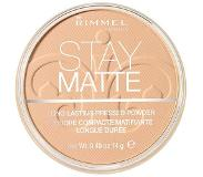 Rimmel London Stay Matte Pressed Powder gezichtspoeder - 003 Peach Glow 003 Peach Glow
