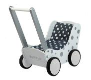 Simply For Kids Poppenwagen zilver stip Simply for Kids 60x32x55 cm