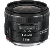 Canon EF 28mm f/2.8 IS USM SLR Wide lens Noir