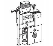Geberit Duofix inbouwreservoir voor wandcloset h82 met omega up inbouwreservoir 12cm