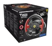 Thrustmaster T150 Ferrari Wheel Force Feedback Stuurwiel + pedalen PC, PlayStation 4, Playstation 3 Zwart, Rood