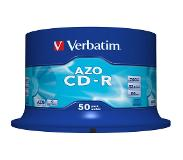 Verbatim CD-R AZO Crystal CD-R 700MB 50stuk(s)