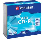 Verbatim CD-R AZO Crystal CD-R 700MB 10stuk(s)