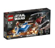 LEGO Star Wars 75196 A-Wing versus Tie Silencer Microfighters