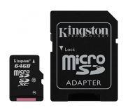 Kingston Technology microSDXC 64GB 64GB MicroSDXC Flash Class 10 flashgeheugen