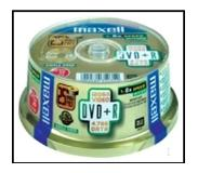 Maxell DVD+R 8x Spindle 4.7GB 50kpl