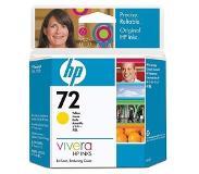HP Nr. 72 gele inktcartridge met Vivera inkt, 69 ml