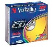 Verbatim CD-R AZO Wide Inkjet Printable CD-R 700MB 25stuk(s)