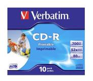 Verbatim CD-R AZO Wide Inkjet Printable CD-R 700MB 10stuk(s)