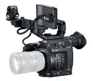 Canon EOS C200 EF-mount Cinema Camera with grip, viewfinder and monitor