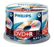 Philips DVD+R Cakebox 50 (4,7 GB) recordable DVD Transparant