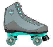 Nijdam Rolschaatsen Nijdam Women Canvas Rambler Grey Mint Green