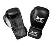 Hammer Fitness Boxing gloves Cowhide, black, 12 OZ
