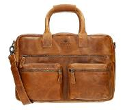 MicMacbags Colorado westernbag 15.6 inch cognac