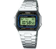 Casio A164WA-1VES Watches - RVS - Zilverkleurig - 35mm