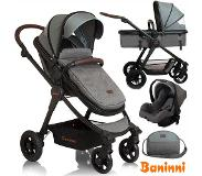 Baninni 3-in-1 Kinderwagen Ayo Limited Edition grijs BNST022-ISP
