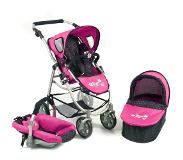 Bayer Poppenwagen Emotion 3 in 1 Navy Pink