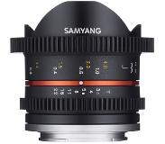 "Samyang 8mm T3.1 Cine UMC FISH-EYE II, Sony E SLR Groothoeklens type ""fish eye"" Zwart"