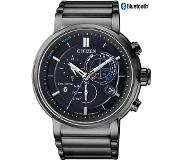 Citizen Horloges Ecodrive Citizen BZ1006-82E horloge Eco-Drive Bluetooth Proximity Zwart