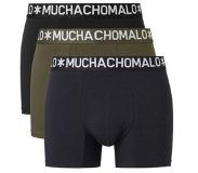 Muchachomalo 3-PACK COTTON SOLID BLACK, NAVY. GREEN, Small (Blauw, Groen, Navy, Zwart, S)