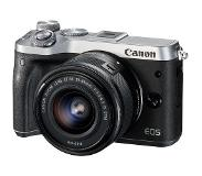 Canon EOS M6 Zilver + 15-45mm f/3.5-6.3 IS STM Zwart
