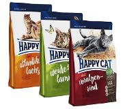 Happy Cat 3 x 4kg Adult - 3 smaken: lam, zalm, rund Happy Cat Kattenvoer