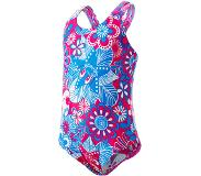 Speedo Fantasy Flowers Essential All Over Badpak Kinderen, electric pink/neon blue/white 74-80 2018 Badpakken