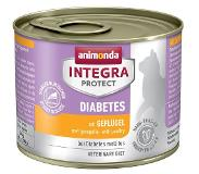 Animonda Integra Protect Adult Diabetes Blik Kattenvoer 24 x 200 g - Gevogelte