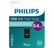 Philips USB-stick 3.0 Philips Pico 64GB zwart