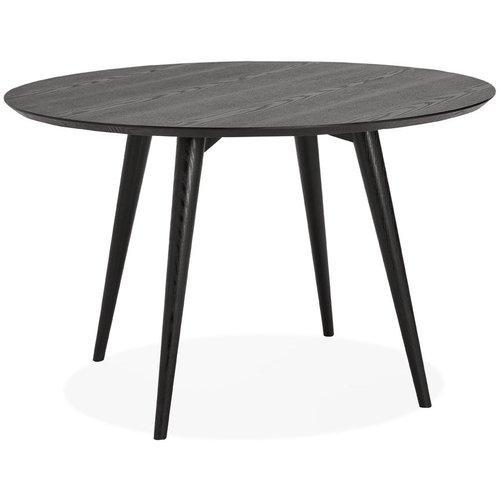 Ronde Kersenhouten Eettafel.Alterego Ronde Eettafel Swedy Van Zwart Hout O 120 Cm