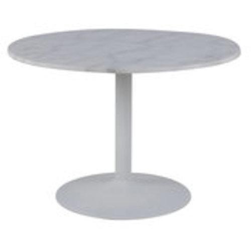 Witte Ronde Hoogglans Eettafel.Meubelen Online Eettafel Isabella Wit Marmer Rond