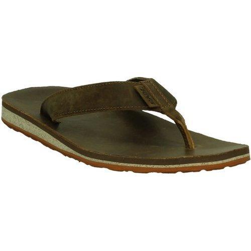 Teva Classic Flip Leather Sandalen Heren Bruin