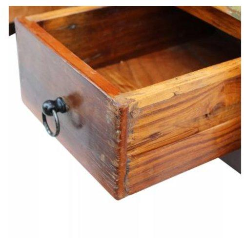 VidaXL Salontafel laden massief gerecycled hout 90x45x35 cm