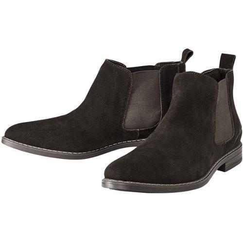 Livergy Heren Leren Chelsea Boots 42, Zwart