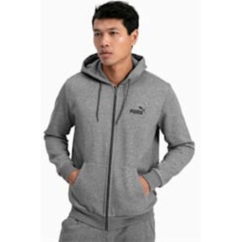 Puma Essentials fleece hoodie met volledige rits voor Heren, GrijsHeide, Maat XXL | PUMA