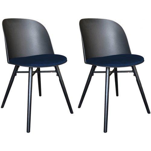 Vente Unique.nl Set van 2 stoelen RAKEL Polypropyleen en stof Nachtblauw