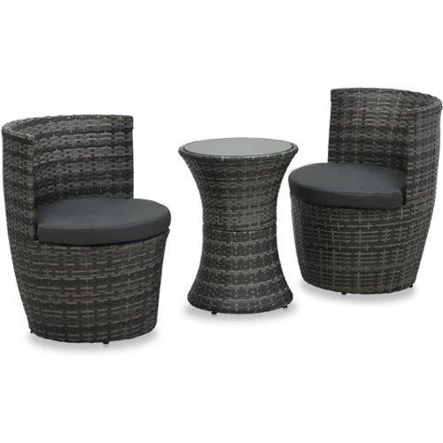 Wicker Eettafel Set Met 8 Stoelen En 4 Krukken Zwart.Vidaxl Tuinset Aanbieding Goedkope Tuinsets Verg